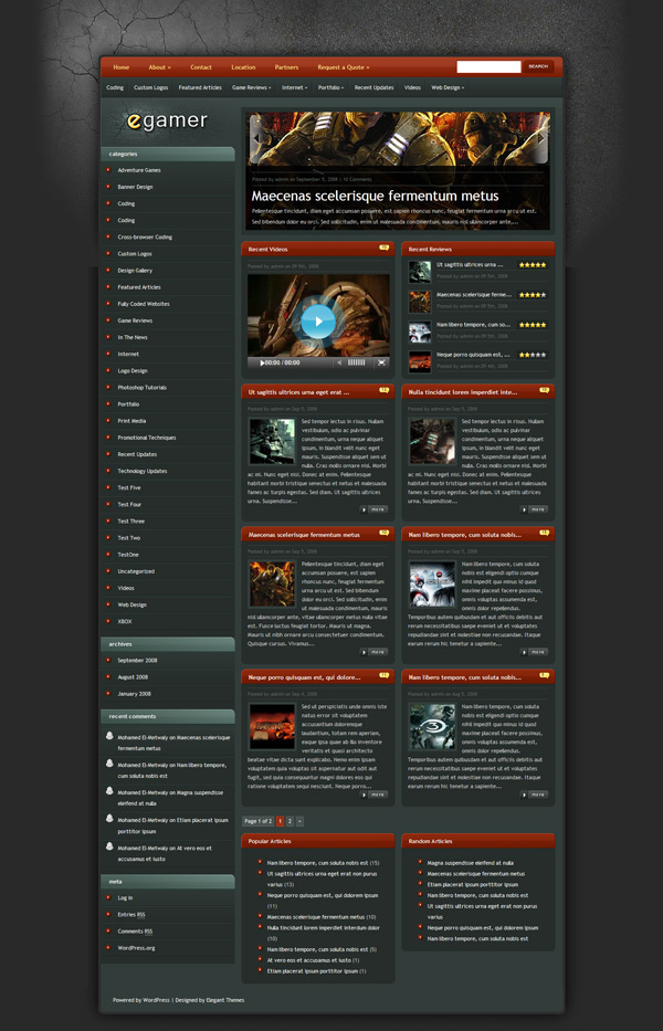 eGamer WordPress Theme