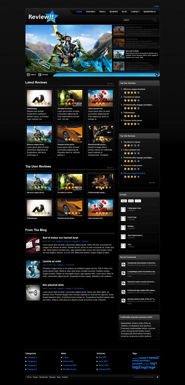Review It Video Game WordPress Theme
