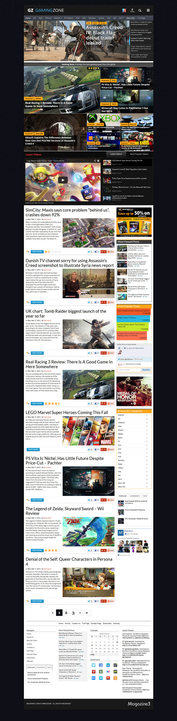 Gaming Zone WordPress theme