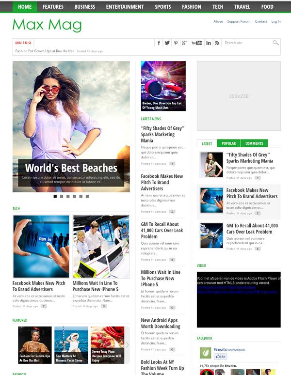 Max Mag WordPress Theme