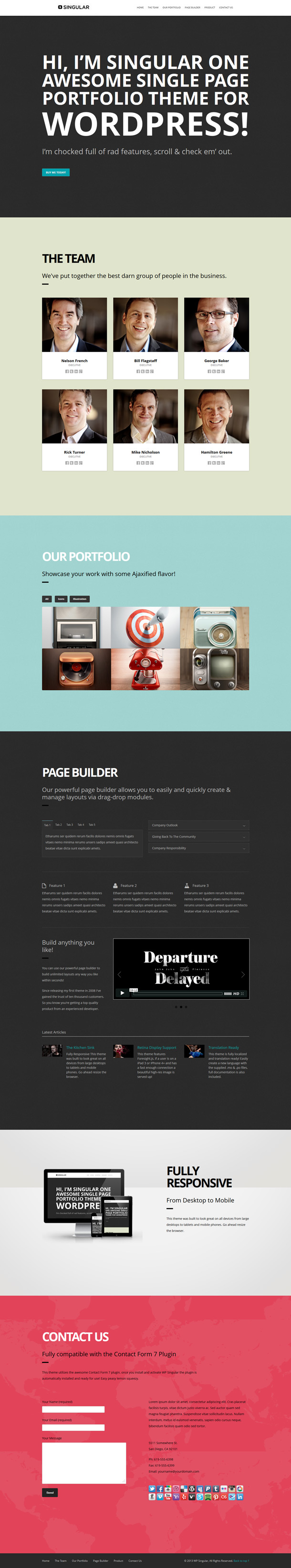 WPSingular-Wordpress-Template
