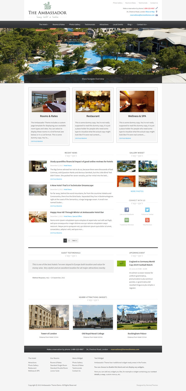Ambassador WordPress Theme Image