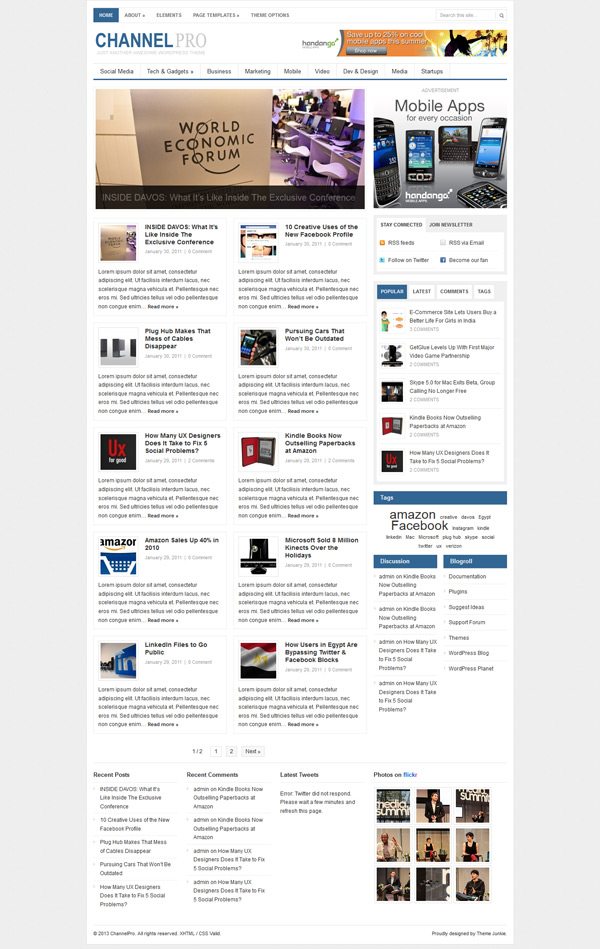 Channel Pro News Theme