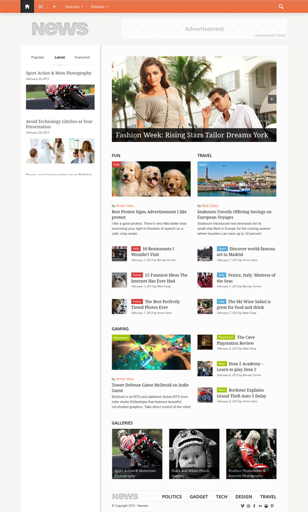 Newses WordPress Theme