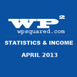 WP Squared Stats & Income Report: April 2013