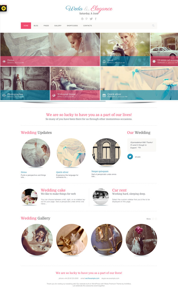 Weda & Elegance WordPress Theme