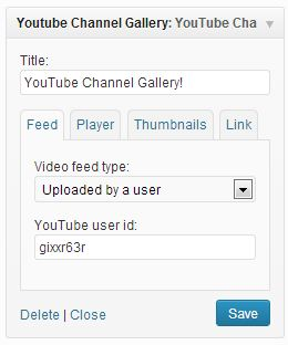 YouTube Channel Gallery options