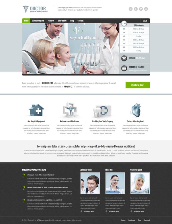 Doctor Premium WordPress Theme