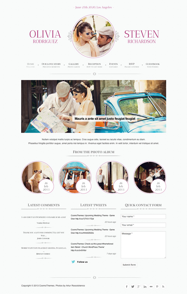 Game Over WordPress Wedding Theme