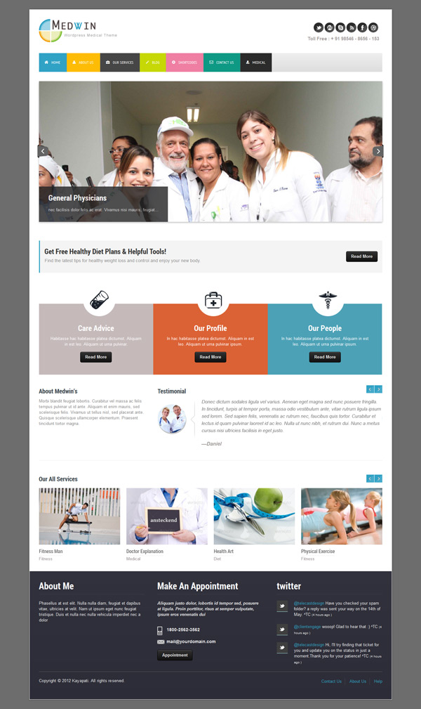 Medwin Medical WordPress Theme