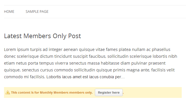 Membership WordPress Sites