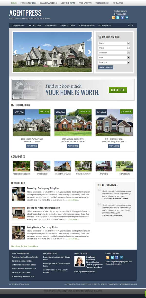 StudioPress Real Estate Theme