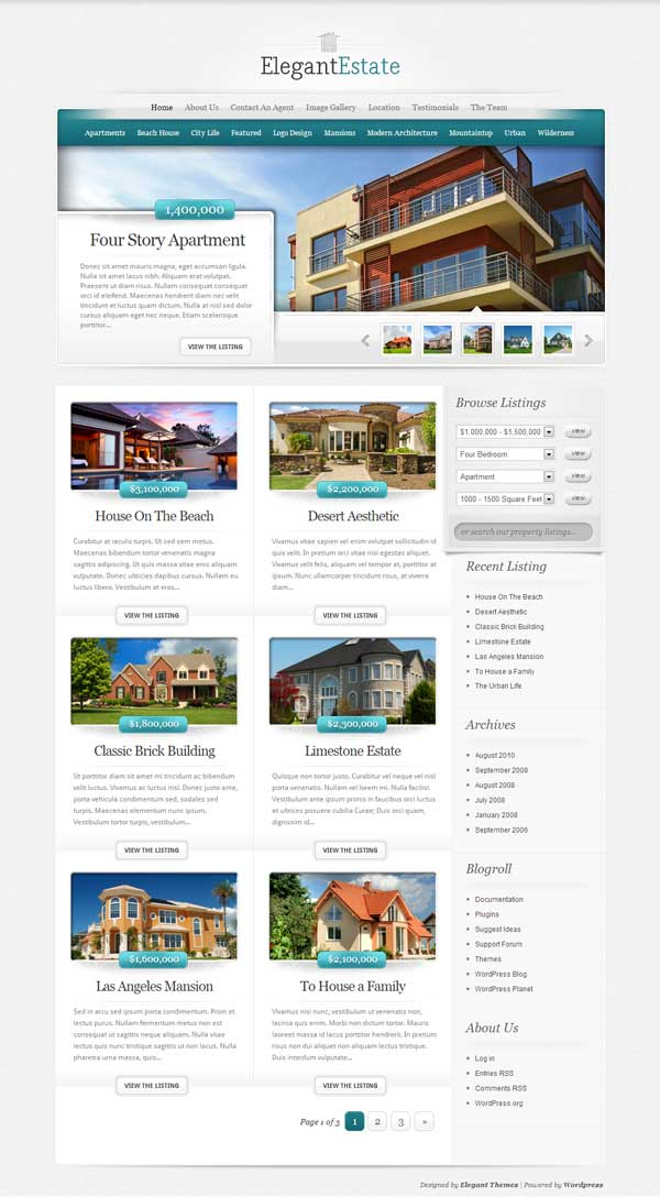 Real Estate Themes for WP