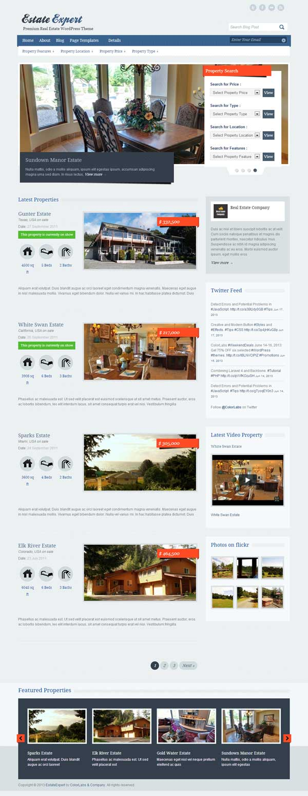 Estate Expert Theme for WP