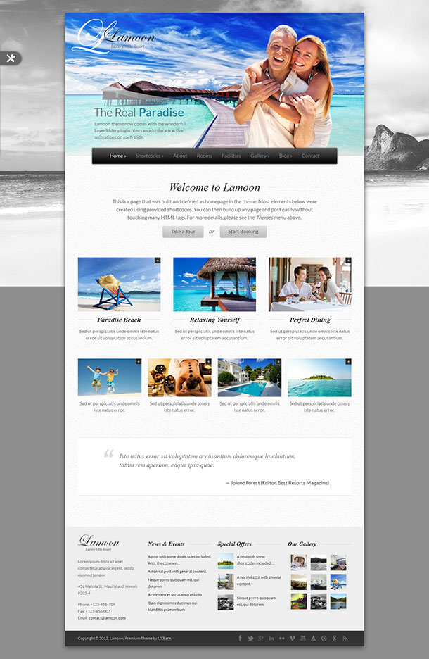 Lamoon Travel Theme WordPress