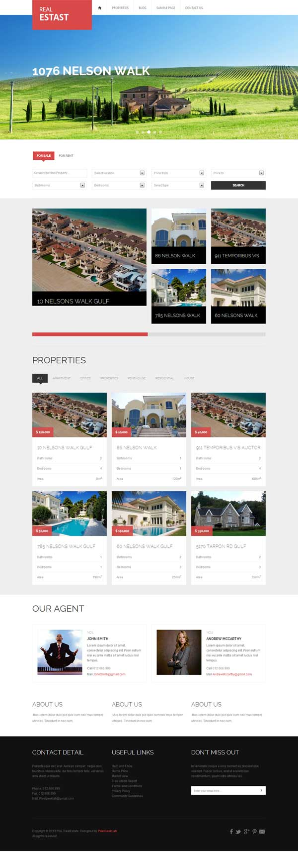 WordPress Theme for Selling Houses