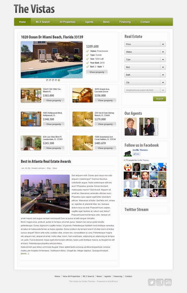 The Vistas Real Estate Theme