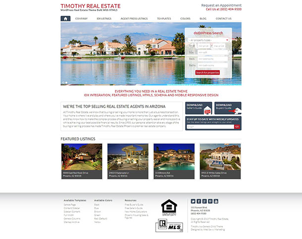 Timothy Real Estate Theme