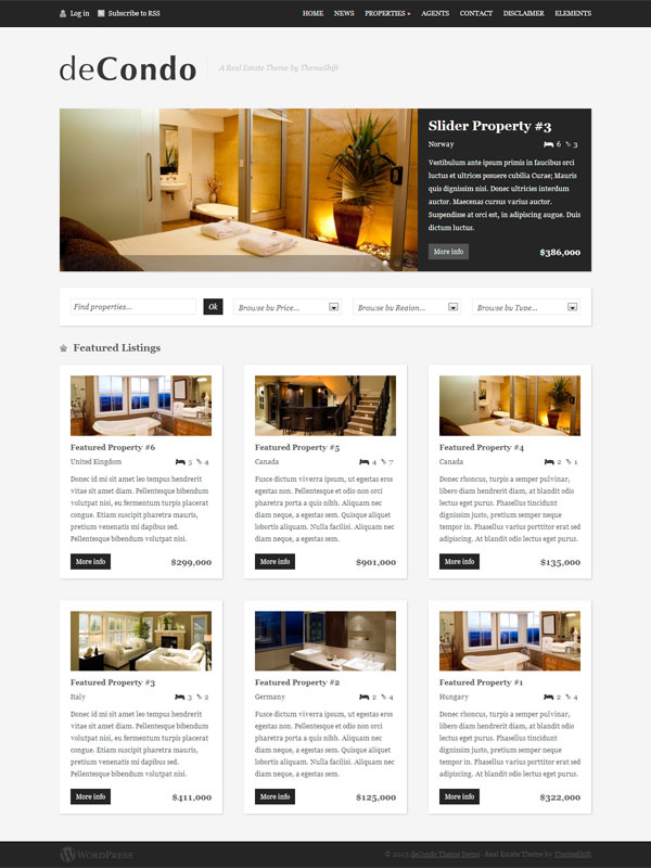 WordPress Theme deCondo