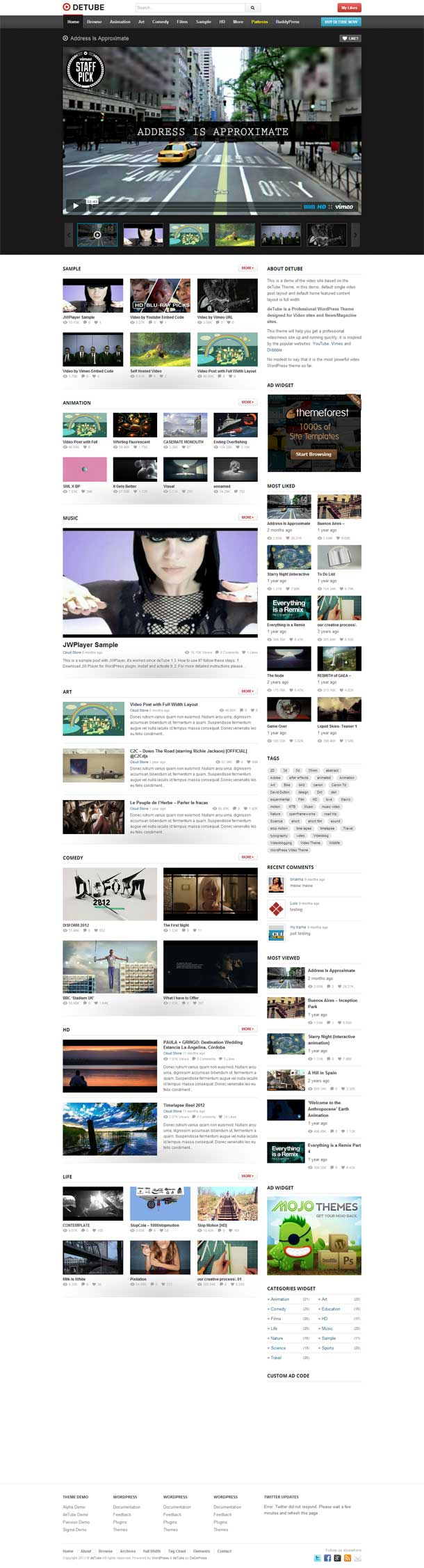 deTube Video Theme Image
