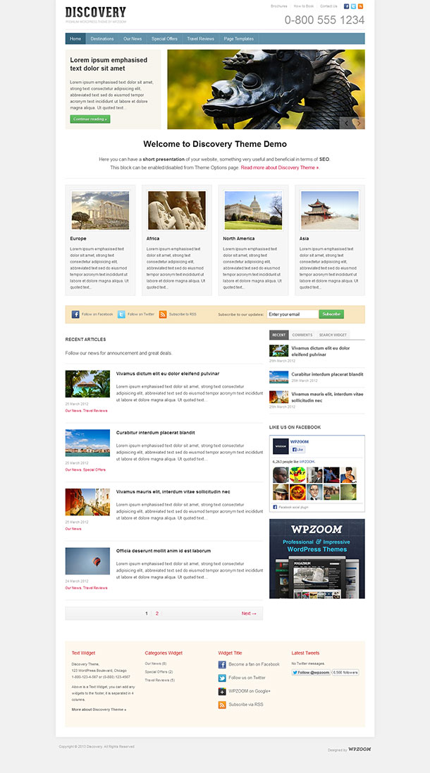 Discovery Travel WordPress Theme image