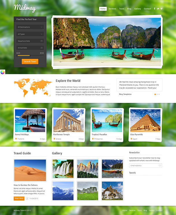 Midway WordPress Travel Theme