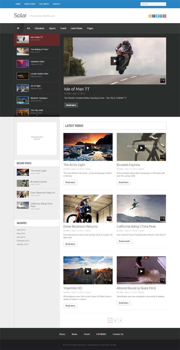 Solar Video Theme Image