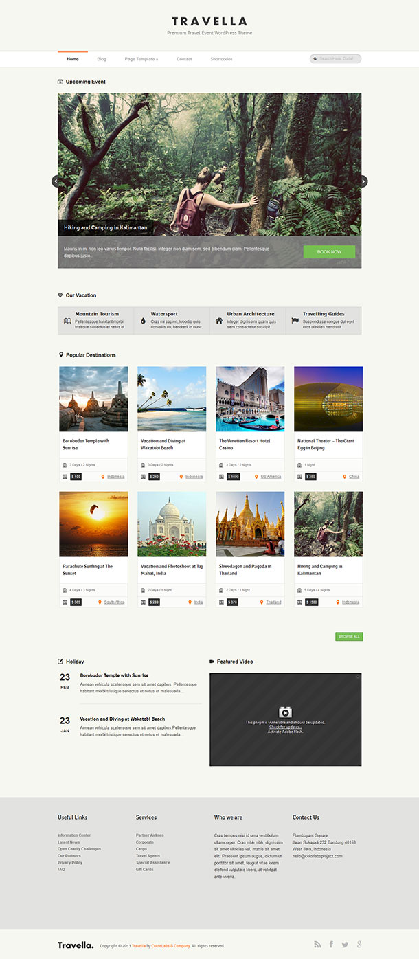 Travella WordPress Theme