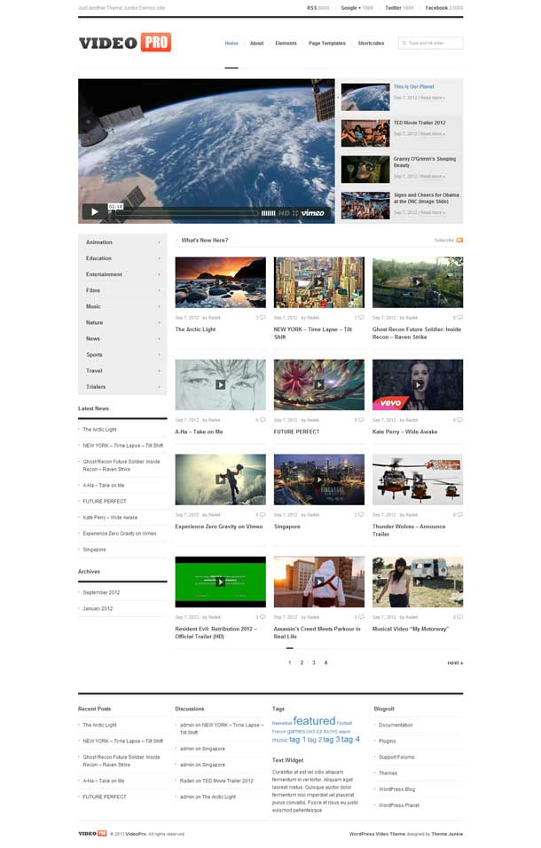 Video Pro Video Theme Image