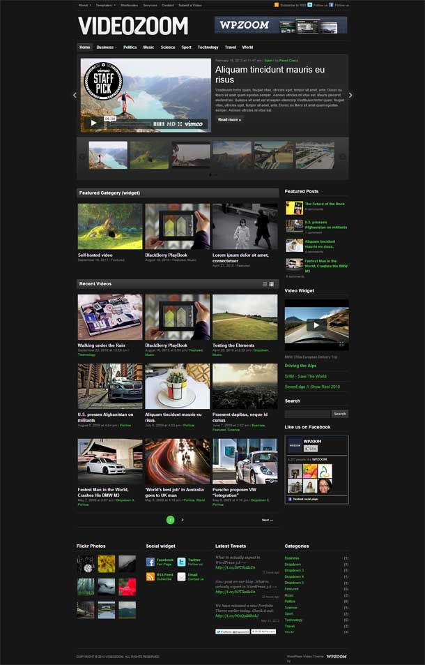 Videozoom Video Theme Image