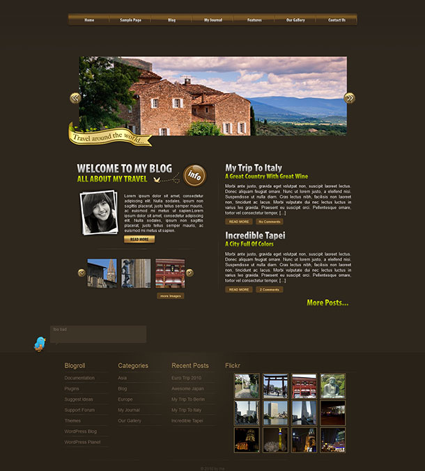 World Traveler WordPress Theme