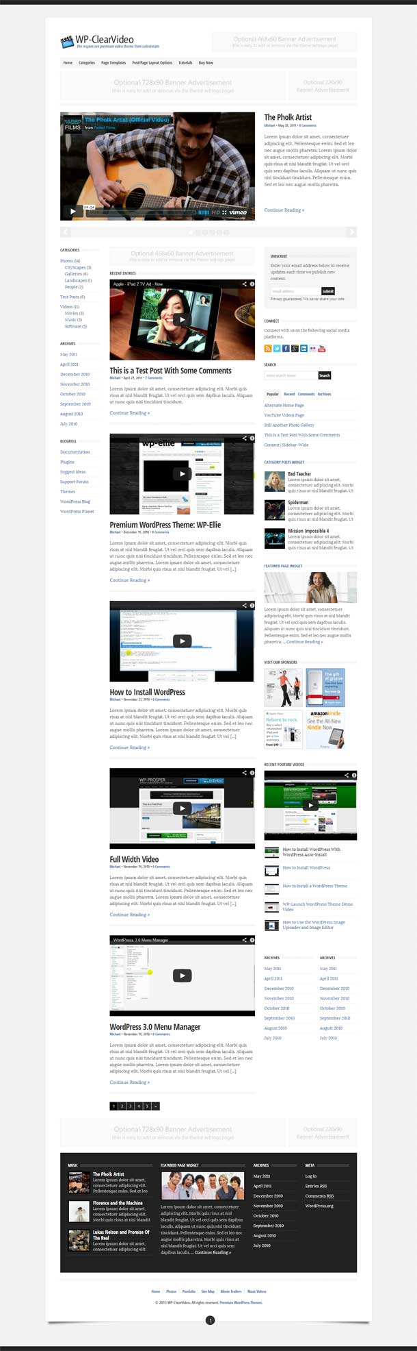 WP Clearvideo Theme Image