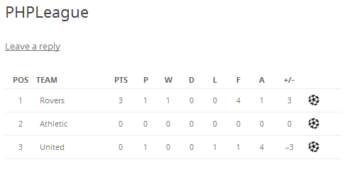 sports-php-league-table