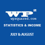 WP Squared Stats & Income Report: July & August 2013