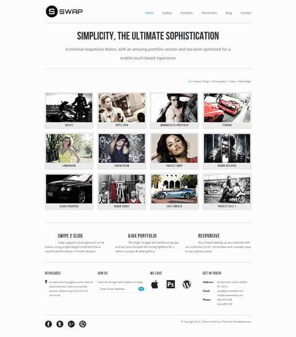 Swap WordPress Theme