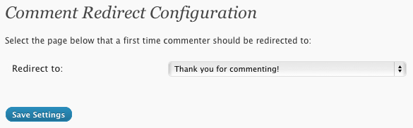 Comment Redirection Plugin