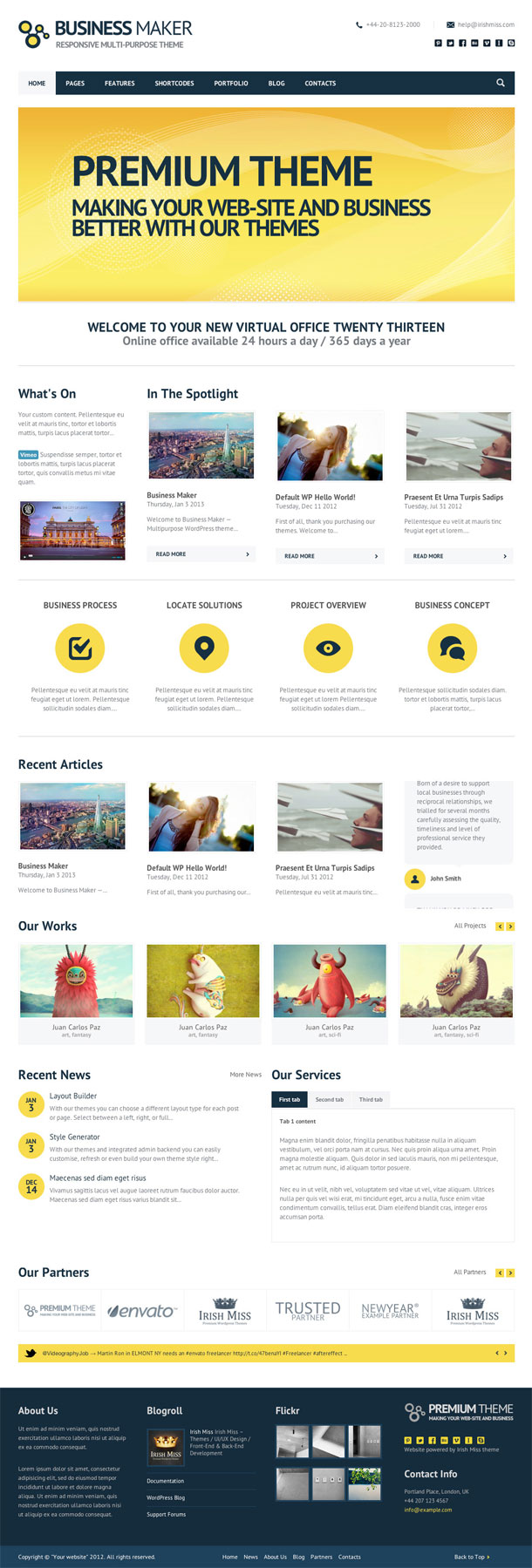 Business Maker Retina Theme Image