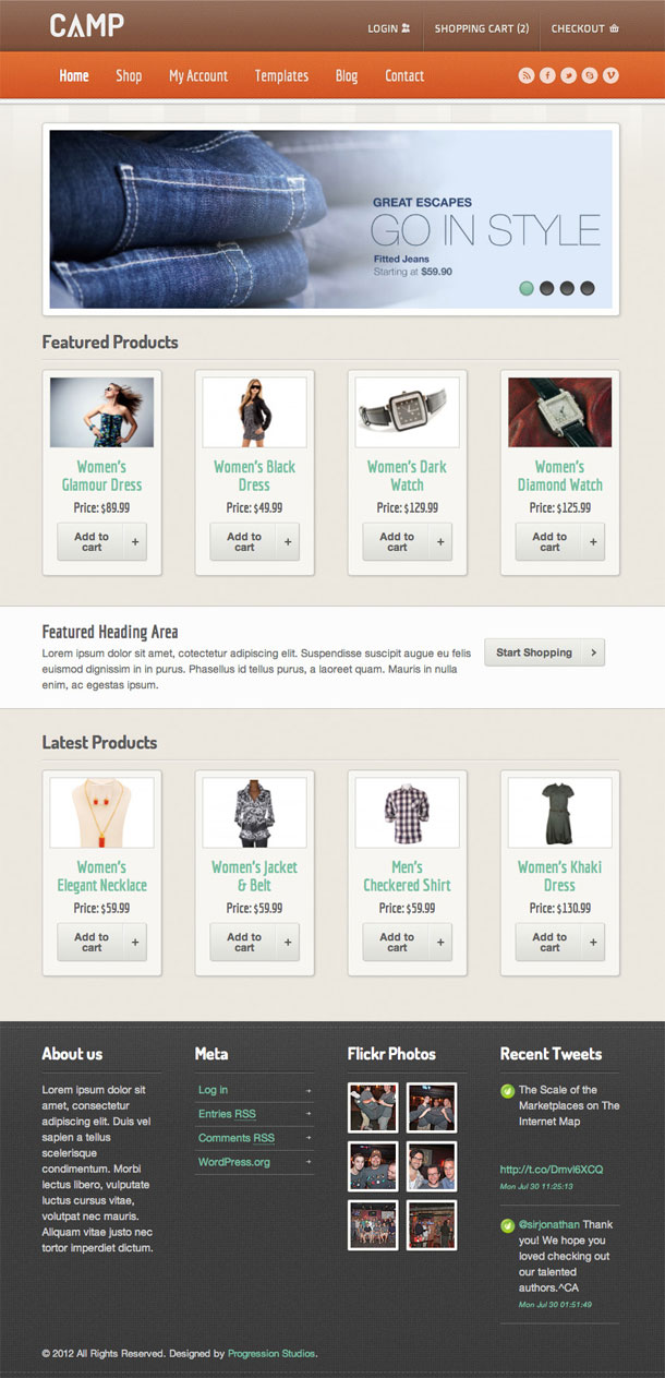 Camp ECommerce Theme Image