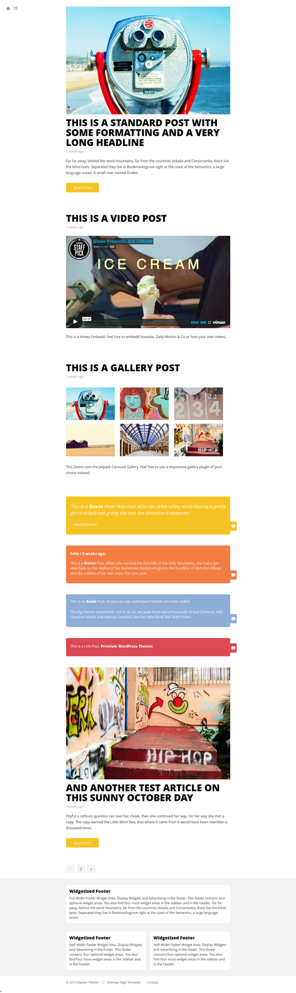 Hipster WordPress Theme Image