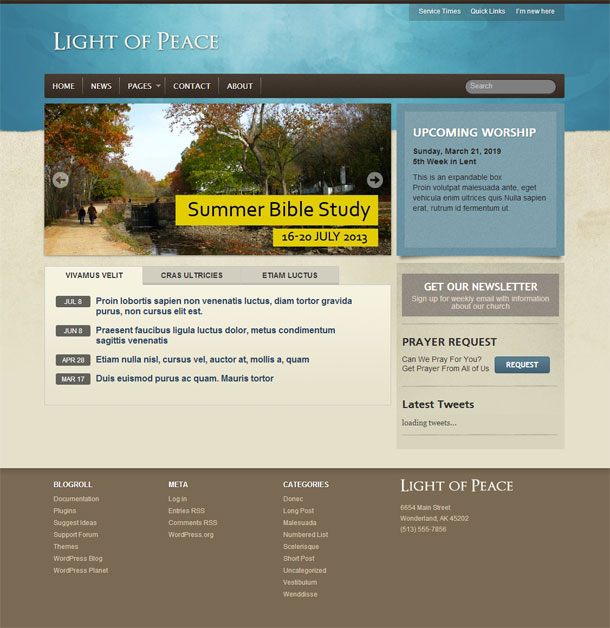 Light of Peace Religious Theme Image