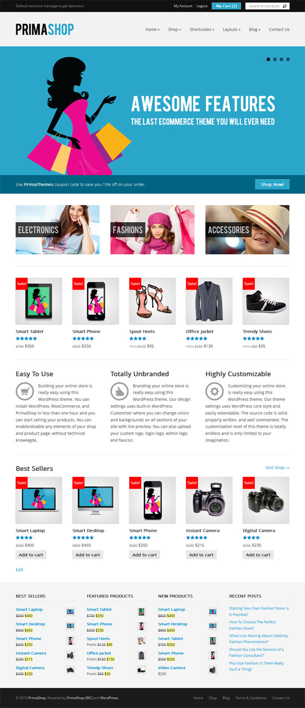 PrimaShop ECommerce Theme Image