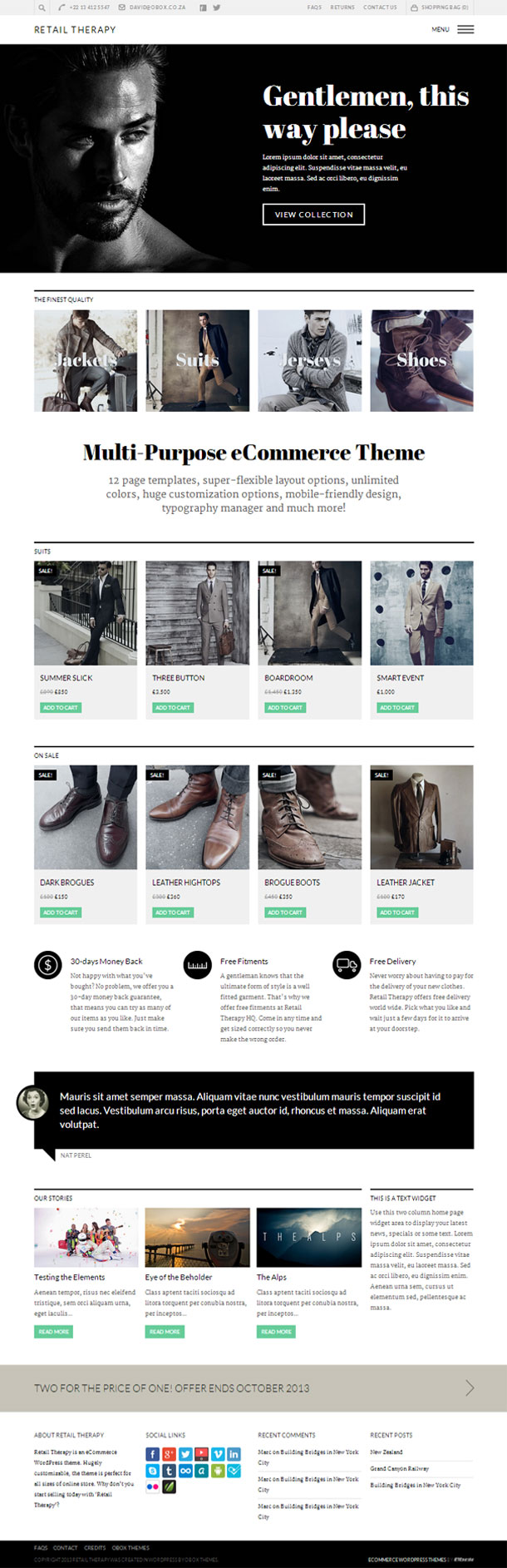 Retail Therapy ECommerce Theme Image