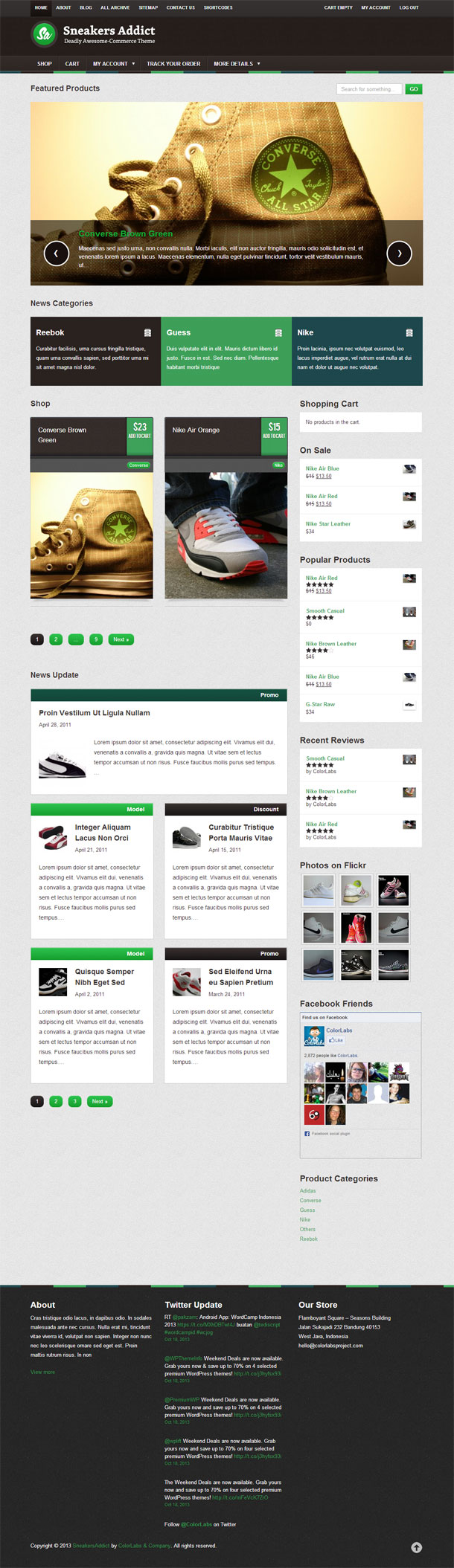 Sneakers Addict ECommerce Theme Image