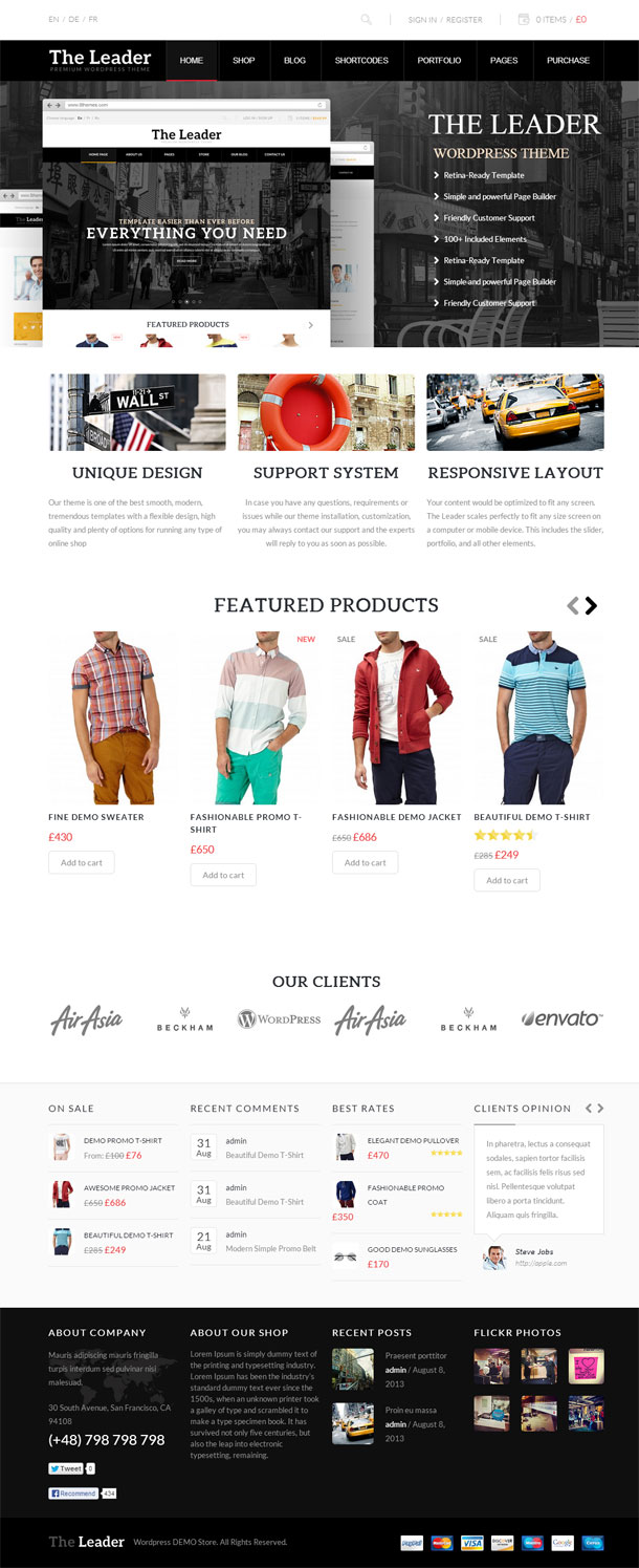 The Leader ECommerce Theme Image