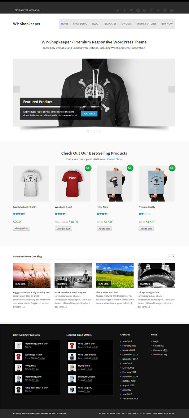 WP-Shopkeeper ECommerce Theme Image