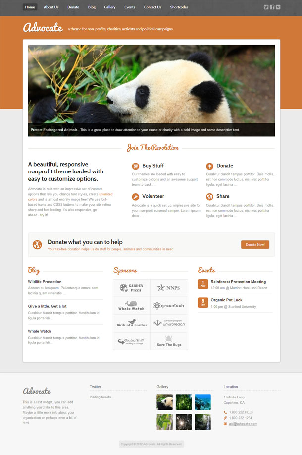 Advocate Best Non Profit WordPress Theme Image