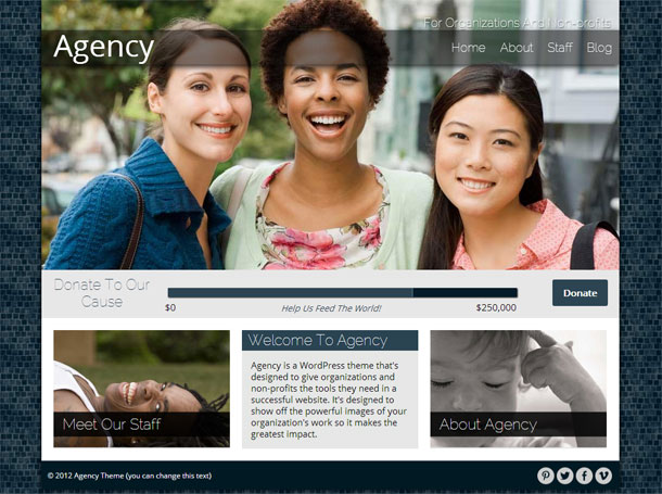 Agency Best Non Profit WordPress Theme Image