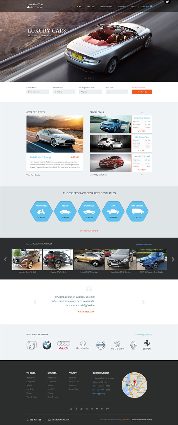 AutoTrader Multimedia WordPress Theme with Slider Image