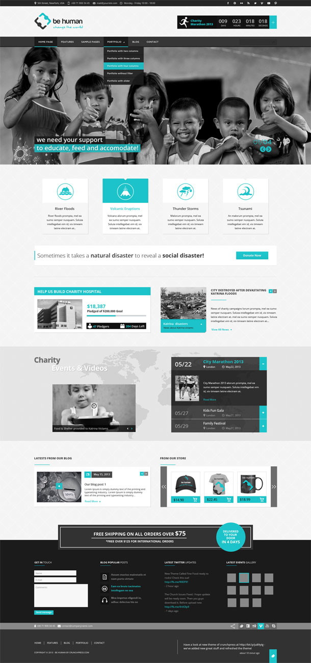 Be Human Best Non Profit WordPress Theme Image