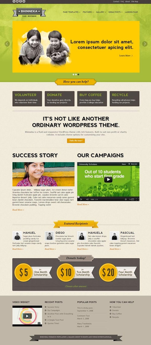 Bhinneka Best Non Profit WordPress Theme Image